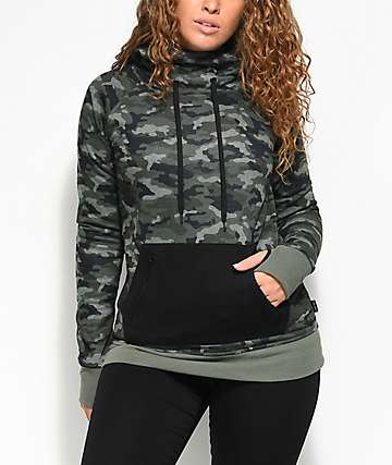 Empyre Greenridge Tech Fleece Black Camo Hoodie