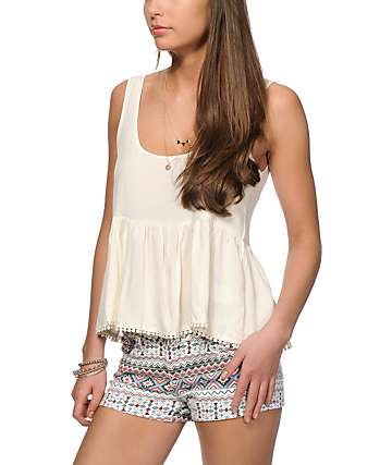 Empyre Griffith Cream Crop Tank Top