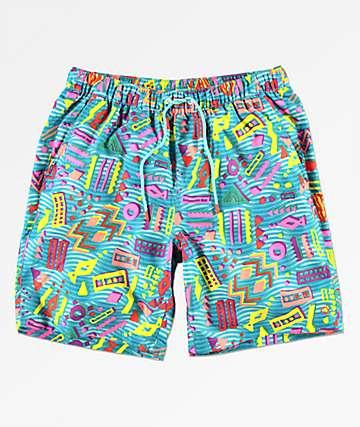 Empyre Grom Geo shorts de baño en azul