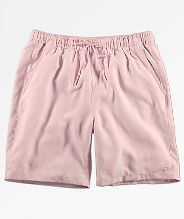 Empyre Grom Light Pink Elastic Waist Board Shorts