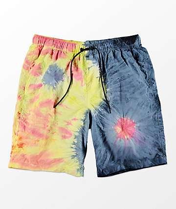 Empyre Grom Yin Yang shorts de baño con pretina elástica y efecto tie dye