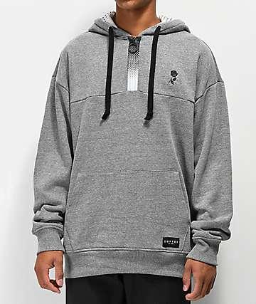Empyre Half Zip Grey Pullover Hoodie