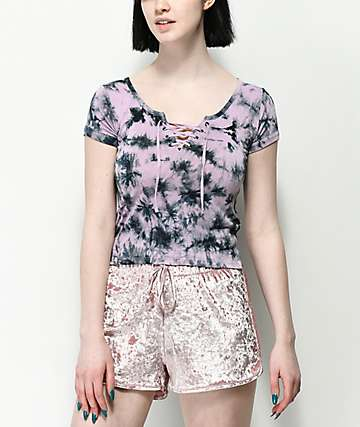 Empyre Hawn Purple Tie Dye T-Shirt