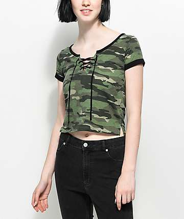 Empyre Hawn camiseta camuflada con cordones