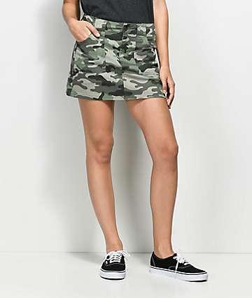 Empyre Hawthorne Camo Twill Mini Skirt