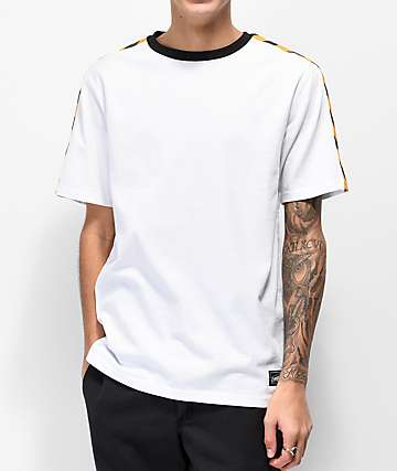 Empyre Hazard White & Yellow Knit T-Shirt