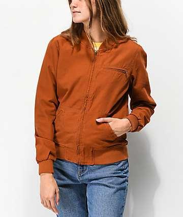 Empyre Hazelle chaqueta bomber marrón