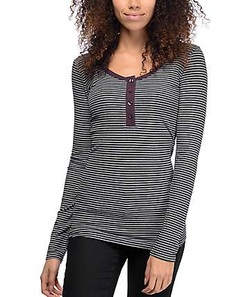 Empyre Helle Stripe Cream Long Sleeve T-Shirt