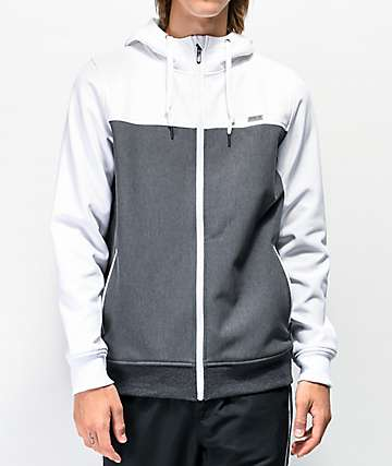Empyre Highlights White & Charcoal Tech Fleece Jacket