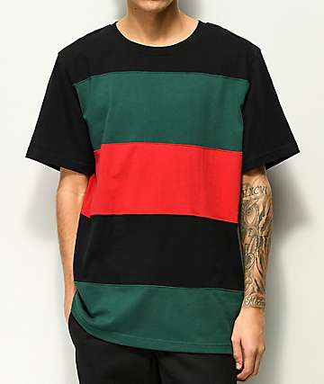 Empyre Highway Red, Green & Black Knit Shirt
