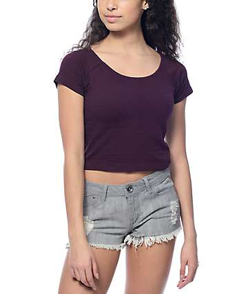 Empyre Ida Blackberry Crop Top