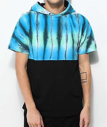 Empyre Inked camiseta con capucha tie dye negra