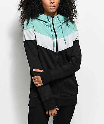 Empyre Insignia Tech Fleece Black Multi Zip Hoodie