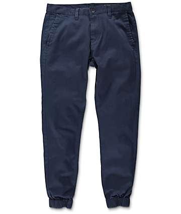 Empyre Jag pantalones jogger asargado en azul marino