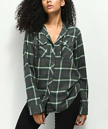 Empyre Jai Olive Hooded Flannel