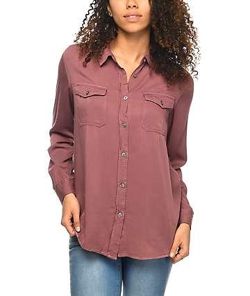 Empyre Jaimie Mauve Button Up Shirt