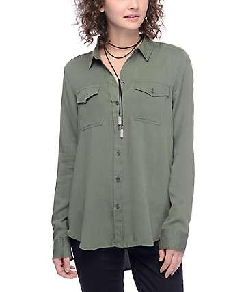 Empyre Jaimie Olive Button Up Shirt