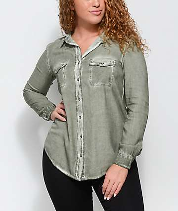 Empyre Jamie Olive Pigment Wash Button Up Shirt