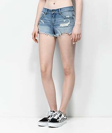 Empyre Jenna shorts destacados con lavado claro