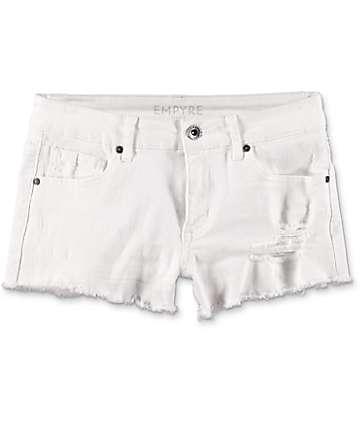 Empyre Jenna shorts rotos en blanco