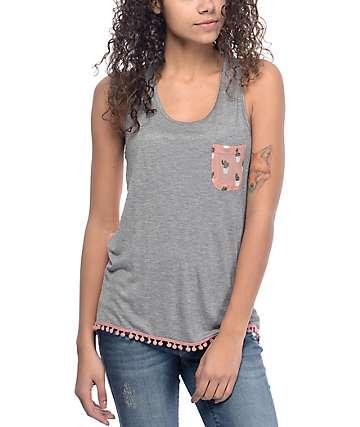 Empyre Karrin camiseta sin mangas en color carbón
