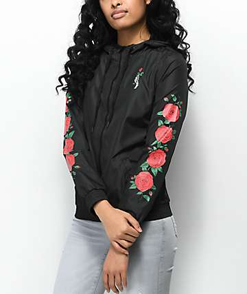 e7e9159c4b Empyre Keana Rose Black Windbreaker Jacket