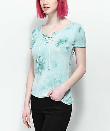 Empyre Keaton camiseta con efecto tie dye y cordones