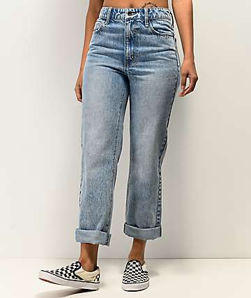 Empyre Kelly Light Wash Vintage Straight Jeans