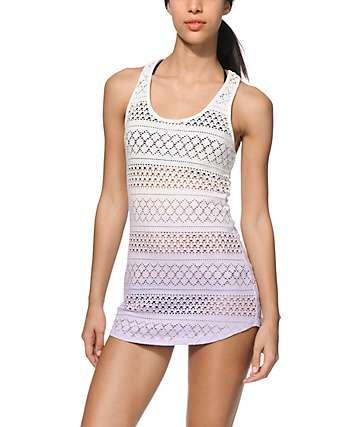 Empyre Kierra Lavender Dip Dye Crochet Dress