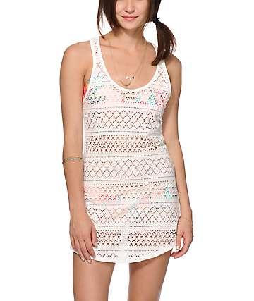 Empyre Kierra White Crochet Dress