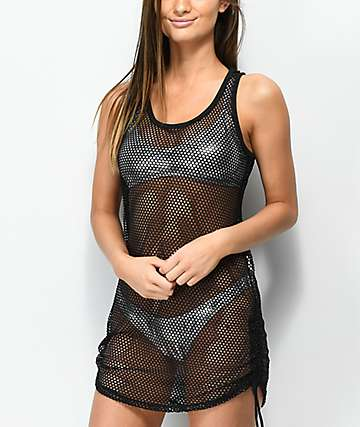 Empyre Kipling Black Mesh Swim Cover-Up