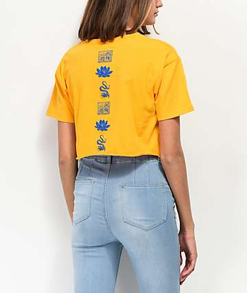 Empyre Kipsy Good Luck Yellow Crop T-Shirt