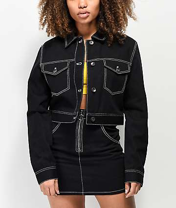 Empyre Kiyan Workwear Black Denim Jacket