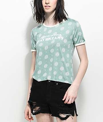 Empyre Knoxville Daydreams camiseta ringer en verde