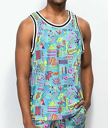 Empyre Kowabunga Geo jersey de baloncesto azul