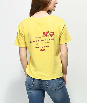 Empyre Kym Rose Yellow T-Shirt