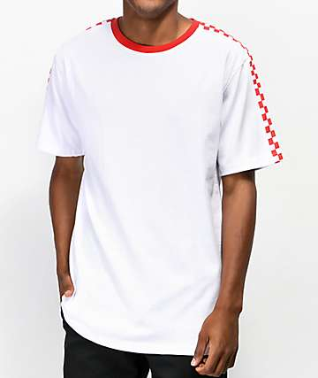 Empyre Last Place Check White & Red T-Shirt