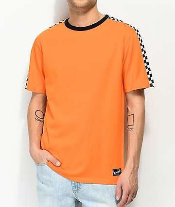 Empyre Last camiseta naranja y de cuadros