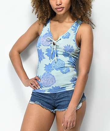 Empyre Leila Succulent camiseta sin mangas azul