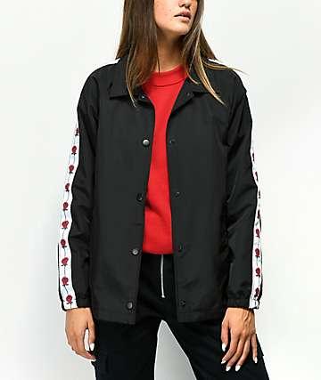 Empyre Leona chaqueta entrenador negra de rosas