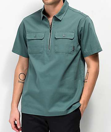 Empyre Louie Pine Quarter Zip Short Sleeve Shirt