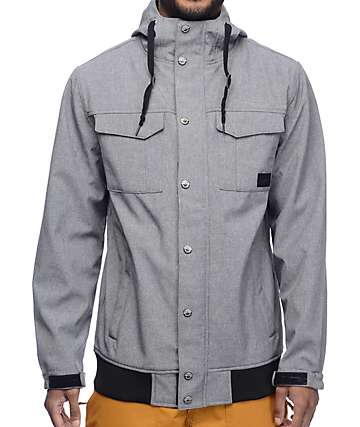 Empyre Luger M65 Softshell 10K Charcoal Snowboard Jacket