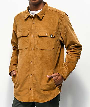 Empyre Luke Brown Corduroy Woven Long Sleeve Shirt