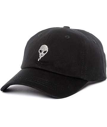 Empyre Lurex Alien gorra strapback en negro