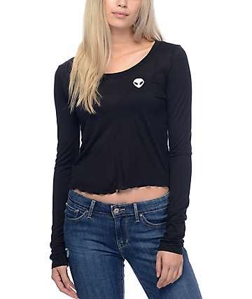 Empyre Lykke Alien camiseta negra corta de manga larga