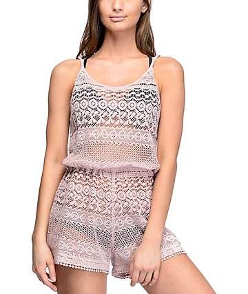 Empyre Mariella Mauve Crochet Romper