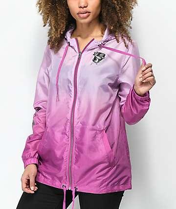 Empyre Marissa Rose Lavender Dip Dye Windbreaker Jacket