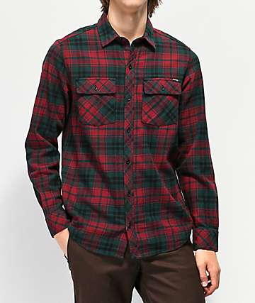 007954db Empyre Marky Red & Black Flannel Shirt