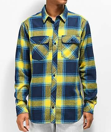 Empyre Marky camisa de franela azul y amarilla