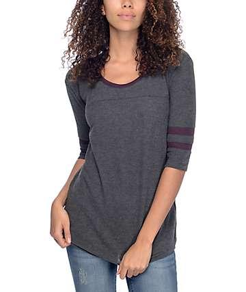 Empyre Marna camiseta tejida en gris y mora